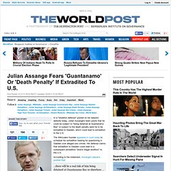Fear 'Guantanamo' Or 'Death Penalty'