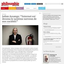 """Julian Assange: """"Internet est devenu le système nerveux de nos sociétés"""""""
