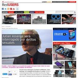 Julian Assange será interrogado por delitos sexuales