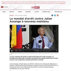 Le mandat d'arrêt contre Julian Assange à nouveau maintenu - rts.ch - Monde