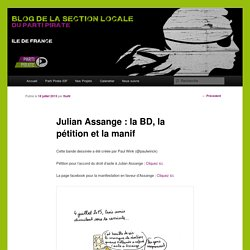Julian Assange : la BD, la pétition et la manif