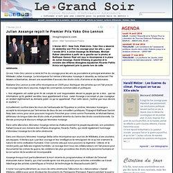 Julian Assange reçoit Prix Yoko Ono Lennon
