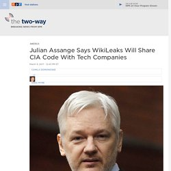Julian Assange Says WikiLeaks Will Share CIA Code With Tech Companies