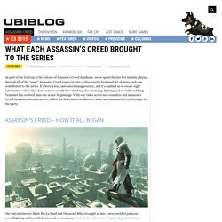 What Each Assassin's Creed Brought To The Series
