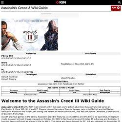 Assassin's Creed 3 Wiki Guide & Walkthrough