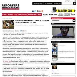 Tentative d'assassinat d'une blogueuse de 14 ans par les talibans