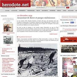 1er décembre 1934 - Assassinat de Kirov et purges staliniennes