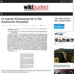 Le manuel d'assassinat de la CIA (traduction française)