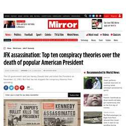 JFK assassination: Top ten conspiracy theories over the death of popular American President