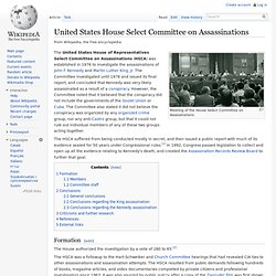United States House Select Committee on Assassinations
