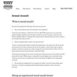 Woolf Associates Solicitors - Experienced Sexual Assault Defence Lawyer