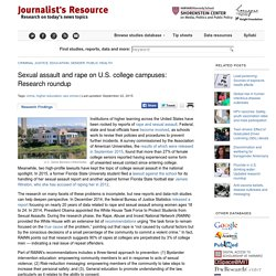 Sexual assault and rape on U.S. college campuses: Research roundup