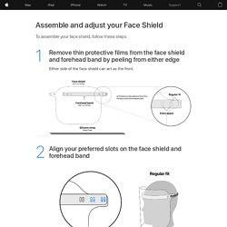 Assemble and adjust your Face Shield