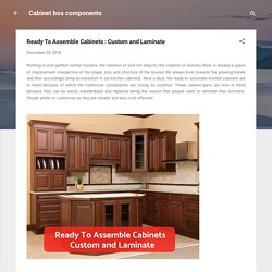 Laminated Cabinet Box Components