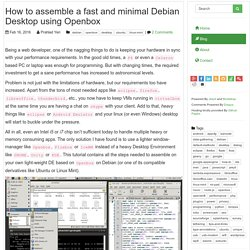 How to assemble a fast and minimal Debian Desktop using Openbox