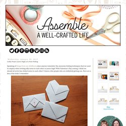 Assemble Shop and Studio: Crafty Project: Junior High Love Note Folding