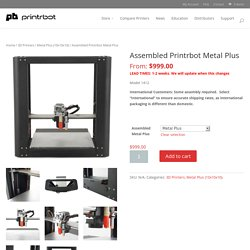 Assembled Printrbot Metal Plus