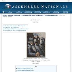 Assemblée nationale - Chronologie de la guerre de 1914-1918