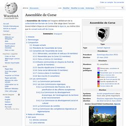 Assemblée de Corse