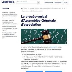 Procès-verbal (PV) d'Assemblée Générale d'une association