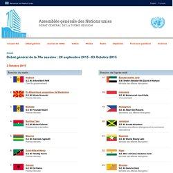 Débat général 02/10/2015
