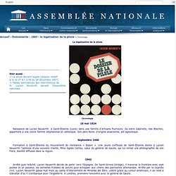 1967 légalisation de la pilule en France