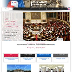 Assemblée nationale - Elections législatives 2012