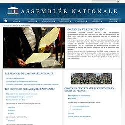 Assemblée nationale : Les concours