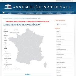 Liste des députés par région