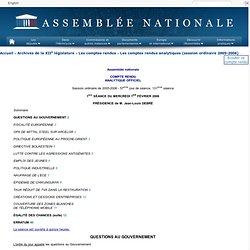 Assemblée nationale : 1ère SÉANCE DU mercredi 1er février 2006