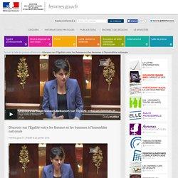 Discours sur l'Égalité entre les femmes et les hommes à l'Assemblée nationale