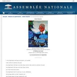 Assemblée nationale : Aimé Césaire et le mouvement de la négritude