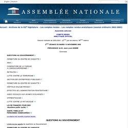 ASSEMBLEE NATIONALE 12/11/02 Question au Gouvernement : LUTTE CONTRE LE RAT MUSQUÉ