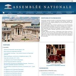 Assemblée nationale : Histoire et patrimoine