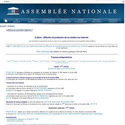 Assembl?e nationale - Culture : diffusion et protection de la cr?ation sur internet