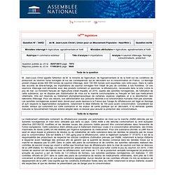 JO ASSEMBLEE NATIONALE 17/09/13 Au sommaire: QE 34052 commerce extérieur - importations - saumon d'élevage. Norvège. consommateu