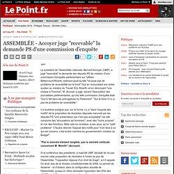 """AFFAIRE BETTENCOURT : ASSEMBLÉE - Accoyer juge """"recevable"""" la de"""