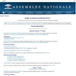 Budget : loi de finances rectificative 2011 (2)
