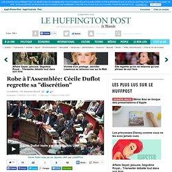 """Robe à l'Assemblée: Cécile Duflot regrette sa """"discrétion"""""""