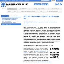 LOPPSI à l'Assemblée : Rejetons la censure du Net !