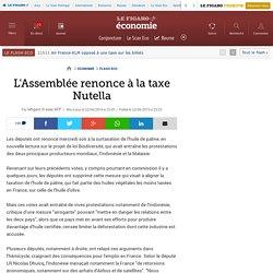AFP 22/06/16 L'Assemblée renonce à la taxe Nutella