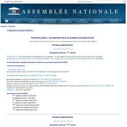 Pouvoirs publics : transparence de la vie publique (2 projets de loi)