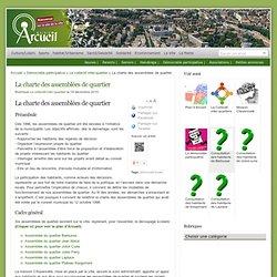 La charte des assemblées de quartier : Arcueil