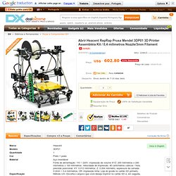 Open Heacent RepRap Prusa Mendel 3DP01 3D Printer Assembly Kit /0.4mm Nozzle/3mm Filament