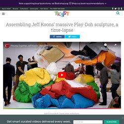 Assembling Jeff Koons' massive Play-Doh sculpture, a time-lapse