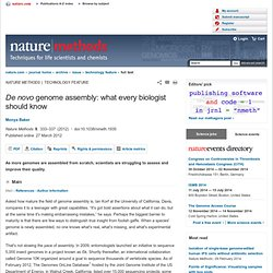 De novo genome assembly: what every biologist should know : Nature Methods