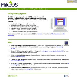 MikeOS - simple x86 assembly language operating system