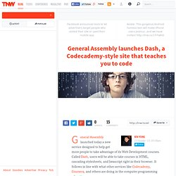 General Assembly launches Dash, a Codecademy-style site that teaches you to code