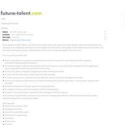Assembly and Repairs Technician De Soutter Medical Limited future talent