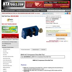 Assenmacher Specialty Tools BMW0062 BMW A/C Compressor Drive Belt Tool
